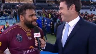 """Queensland state of origin player Sam Thaiday caused a ruckus with his post-match """"virginity"""" comments."""