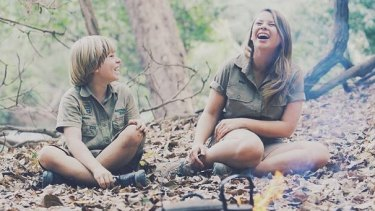 Bindi Irwin with her brother Robert.
