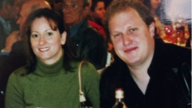 Newcastle fraudster Lemuel Page and his then wife, Fiona Page, at a family function.