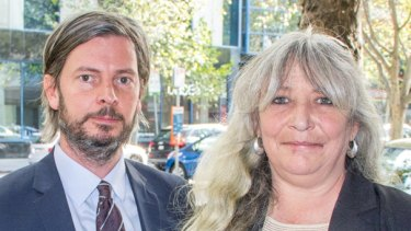 Vikki Shields and her Victoria Legal Aid lawyer, Miles Browne.