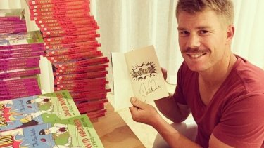 David Warner's The Kaboom Kid series is about little Davey Warner who wants to play cricket - but keeps getting into trouble.