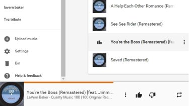 Featuring Jimmy who?: Google Play Music's interface is clean but sometimes frustrating.