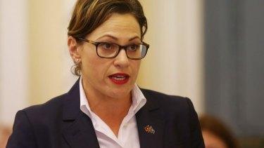 Deputy Premier Jackie Trad will take over the transport portfolio.