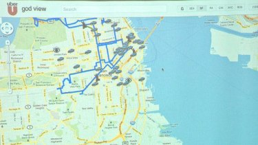 'God view': Uber can track everyone using its service at any time.