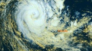 Cyclone Donna covers Vanuatu's vast archipelago.