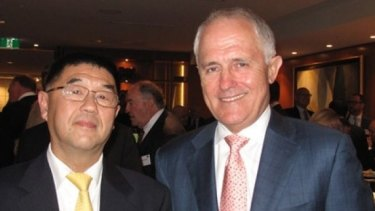 Dr Zhu with Prime Minister Malcolm Turnbull in November 2015.