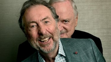 Eric Idle (front) with fellow Python John Cleese.