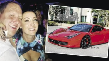Newcastle fraudster Lemuel Page, pictured with his partner Renay Bull, has been driving around Newcastle in a 458 Ferrari Italia similar to this one.