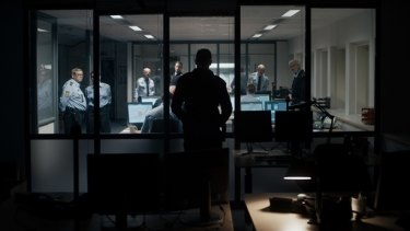 Drama unfolds at a Copenhagen police station in <i>The Guilty</i>.