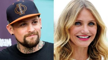 """""""He's mine"""" ... Cameron Diaz gave a touching speech to new husband Benji Madden during their wedding reception."""