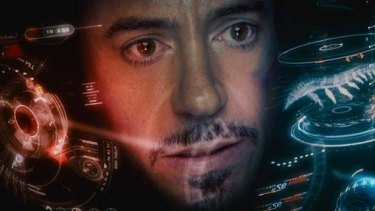 Screen time: The heads up display seen in the Iron Man movie starring Robert Downey Junior.