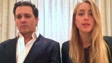 Johnny Depp and Amber Heard in their heartfelt apology video.
