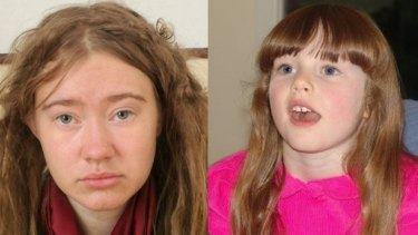 The mystery English-speaking girl living on the streets on Rome, left, and Leela McDougall who went missing in October 2007 aged 6.