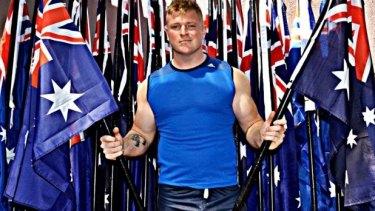 United Patriots Front leader Blair Cottrell.
