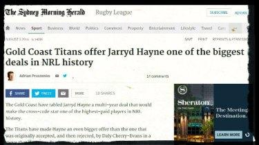 How Fairfax Media broke the story.