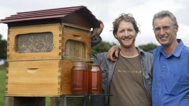 Sweet success: Inventors Cedar (left) and Stuart Anderson are set to crowdfund full production of their innovative hive.