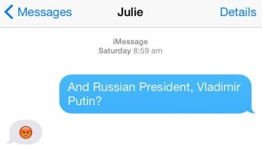 The emoji Ms Bishop used to describe Russian president Vladimir Putin in an interview with BuzzFeed.