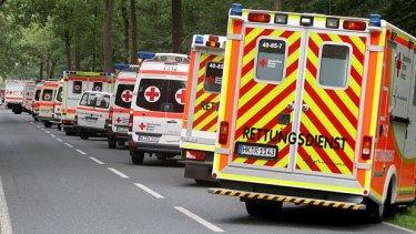 Emergency responders in Handeloh.