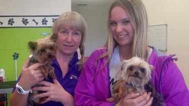 Lianne Kent with Pistol (left) and Elly Kent with Boo.
