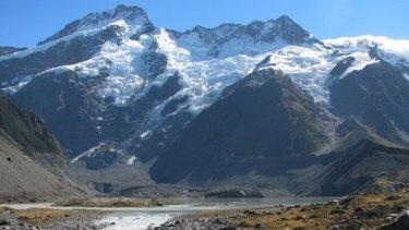 Mount Cook National Park, where Stuart Hollaway and Amanda Thistlethwaite fell.