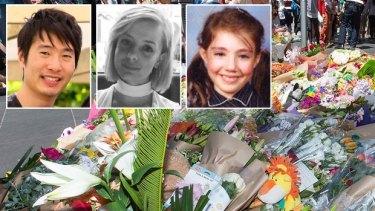 Bourke Street victims: Matthew Si, Jess Mudie and Thalia Makin.