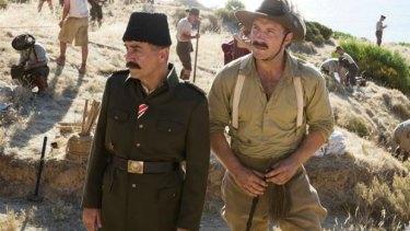 Yilmaz Erdogan and Jai Courtney in The Water Diviner.