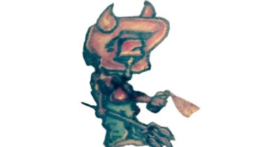 This distinctive devil tattoo discovered on the inner forearm of one of the body parts, helped police identify them.
