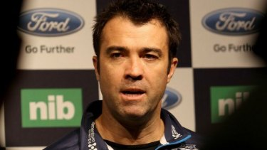 """We're well and truly alive"": Geelong coach Chris Scott."