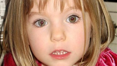 Madeleine McCann, 3, was abducted in Portugal in May 2007.