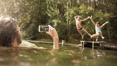 In this promotional shot the Xperia M4 Aqua is used in fresh water, which Sony says will not harm the device at all provided its rubber seals are firmly shut.