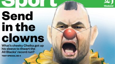 How The New Zealand Herald portrayed Michael Cheika.