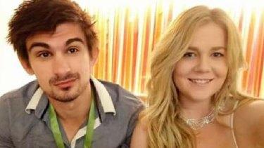 Cassandra Sainsbury with her fiance, Scott Broadbridge.
