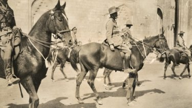 War horses: Members of the 1st Australian Light Horse Brigade in Cairo.