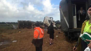 Police said that the truck's trailer hit power lines after the collision.
