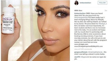 Kim Kardashian made the news for (mis)promoting morning sickness pills.