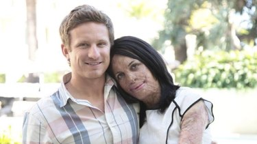 Turia Pitt with her partner Michael Hoskin.