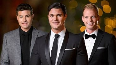 Slim pickings: The Bachelorette's final three, now reduced to two, represented perfectly the three major categories into which our dates fall.
