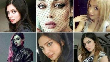 Iranian women posing on Instagram without hijab.