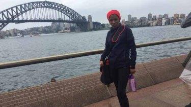 Makda after the Sydney marathon.