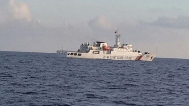 A Chinese Coast Guard vessel has intervened in a Natuna Sea dispute.