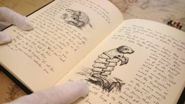 Cobblestone Productions will make reproductions of a handwritten manuscript of Alice in Wonderland.
