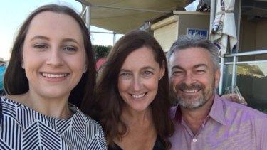 Karen Ristevski with her husband, Borce, and daughter, Sarah.
