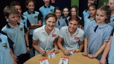 Cate and Bronte Campbell at Chapel Hill State School.