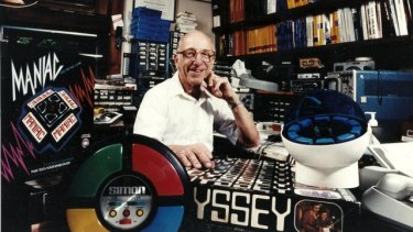 Baer and some of the products that came of his inventions — including the Magnavox Odyssey, 'SIMON' and TV Teddy.