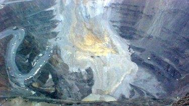 The Grasberg copper and gold mine in Papua.
