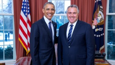 Ambassador Joe Hockey with President Barack Obama.