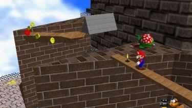 Mario entered the third dimension in <i>Super Mario 64</i>.
