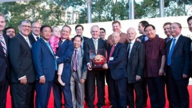 Prime Minister Malcolm Turnbull at the Chinese New Year Lantern Festival in Sydney.