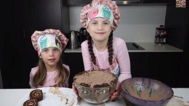 Ashley, 5, and Charli, 8, rising stars of Charli's Crafty Kitchen.