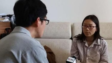Wife of Lei Yang speaking to the media after the case went viral.